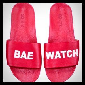 Schutz Bae Watch Slides NWT